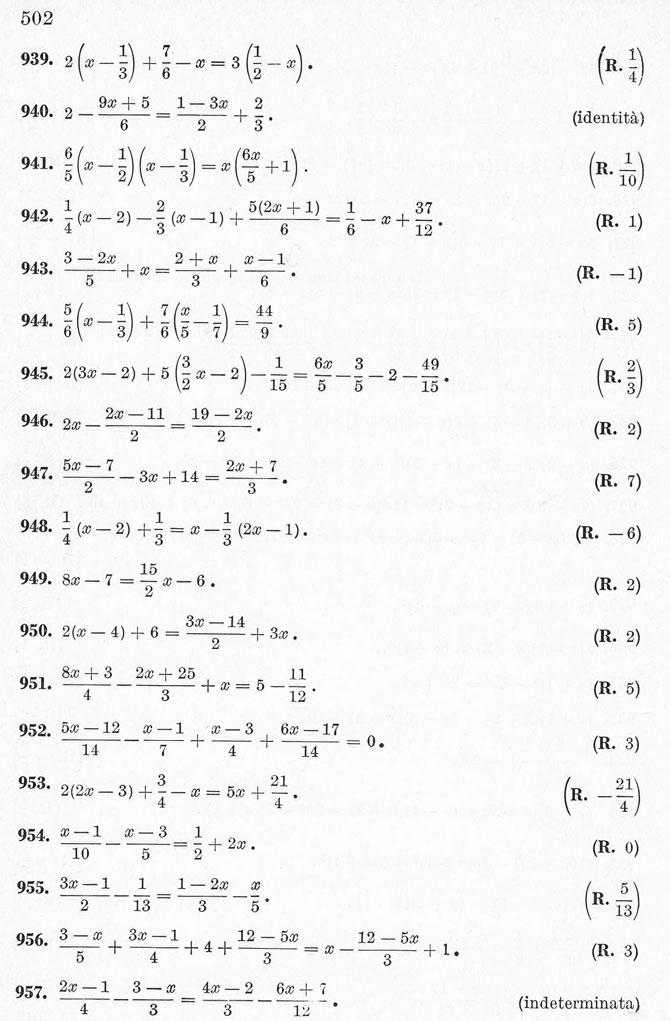 Equazioni Di Primo Grado Esercizi Svolti Con Commento E Soluzione