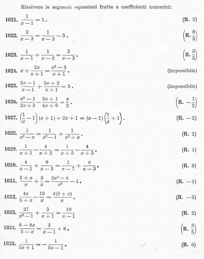 Equazioni di primo grado - esercizi svolti