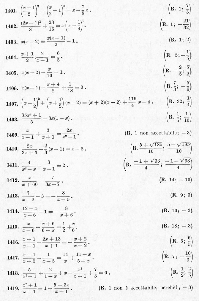 equazioni di secondo grado esercizi e problemi