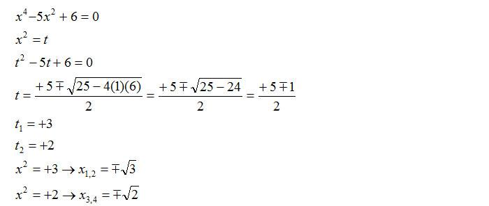 equazioni-biquadratiche