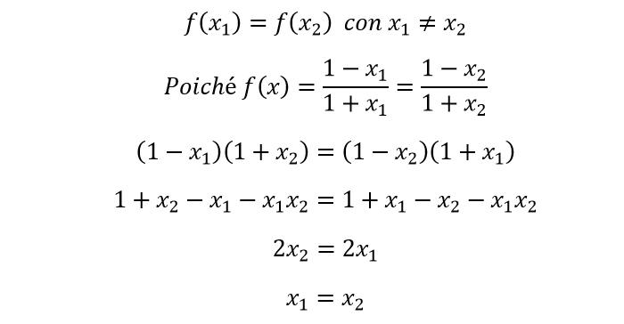 Funzione iniettiva definizione grafico ed esempi for Problemi di primo grado a due incognite esercizi